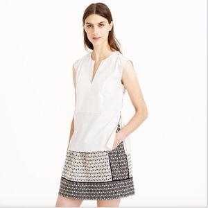 J.Crew Sleeveless Side-Zip Top White 100% cotton